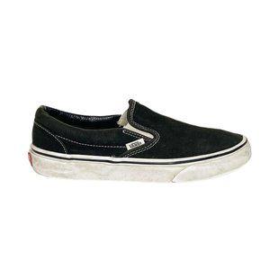 Vans Solid Black Classic Slip On Sneakers